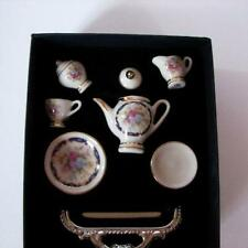 Tea Set for Child's Doll Blue Royale 1.336/1 Reutter Porcelain Chocolate Coffee