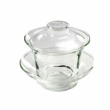 Three Piece Clear Glass Gaiwan - Bowl with Lid for Steeping Tea - 100ml