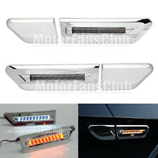 Universal LED Air Vent Fender Side Marker Light Daytime DRL Lamp Turn Signal