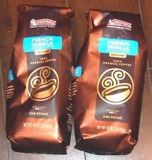Dunkin Donuts Two Pounds New Bag Ground French Vanilla Coffee Free Ship