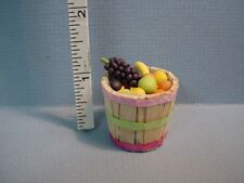 Dollhouse Miniature Fruits in a Bushel Basket #B1026F Bright Delights Non-Edible