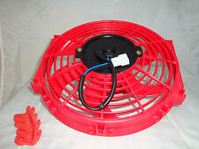 10 INCH LOW PROFILE RED HIGH PERFORMANCE THERMO FAN 12V