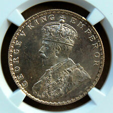 British India George V Rupee 1912-B NGC Graded MS63