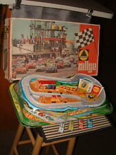 1970 TECHNOFIX NR. 328 RALLYE W/4 RACE CARS SET, 100% COMPLETE & WORKING W/BOX!