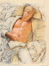 SMALL POSTER:SEXY MALE MODEL - LAYING IN BED by NICK  BACKES - #P01 RP82 O