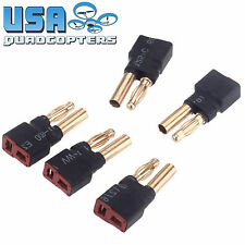 5x T Plug Female to Bullet Banana HXT 4.0mm Male Connector Adapter RC Quadcopter