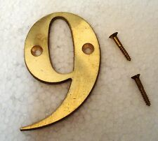"""9 – 3"""" Brass NUMBERS - Times ROMAN - HOUSE DOOR Sign - Number"""