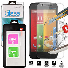 Genuine Tempered Glass Shockproof Screen Protector For Motorola Moto G2 2nd