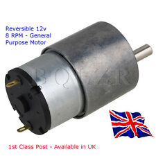 General Purpose - Reversible - DC motor 8 RPM - HIGH TORQUE - Available in UK