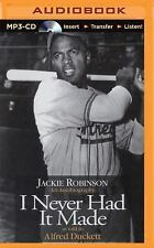 I Never Had It Made by Jackie Robinson (2015, MP3 CD, Abridged)