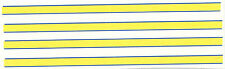 SET OF 4  blue yellow STRIPES DECAL IDEAL FOR CODE 3  1/43 police ambulances