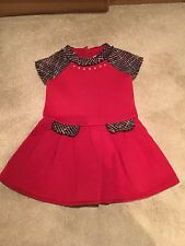 Girls red mayoral dress age 3