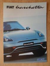 FIAT BARCHETTA ORIG 2000 Regno Unito delle vendite sul mercato opuscolo