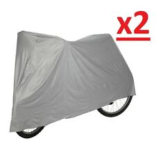 2 x Universal Waterproof Cycle Bicycle Bike Cover Rain Resistant Water Proof