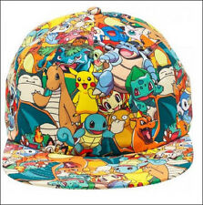Nintendo Pokemon Pikachu Squirtle Charmander Collage Snapback Baseball Cap Hat