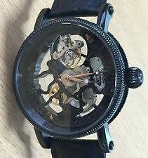 New BLACK clear Skeleton 1-Min.Real Flying Tourbillon