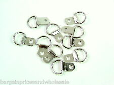 10x Nickel Plated Steel D Rings Buckle Clip Hanging Picture Frame Hook 18mm