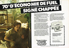 PUBLICITE ADVERTISING 064  1982  CHAPPEE   pompe à chaleur  ( 2 pages)