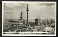 Barcellona ( Spagna / España ) Monumento a Colón - viaggiata  '51 per l'Italia