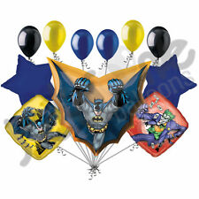 11 pc Batman in Flight Super Hero Happy Birthday Balloon Bouquet Action Cape