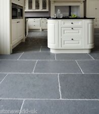 Tumbled Cathedral Ash Grey Limestone Tiles Slabs Aged Flagstones Floor Tiles