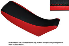 RED & BLACK CUSTOM FITS HONDA CR 250 93-95 DUAL LEATHER SEAT COVER