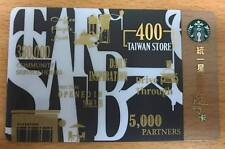 2017 Starbucks Taiwan #170~ TAIWAN 400th STORE CARD/ SLEEVE~ NEW