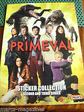 PRIMEVAL STICKER BOOK 2ND 3RD SERIES E MAX WITH 54 STICKERS IN