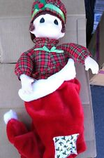 Precious Moments Holiday Doll With Stokcing
