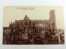 Post War Litho Postcard of Reims Cathedral FRANCE A41