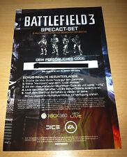 Xbox360 Battlefield 3 Bonus Inhalte Code (Dog Tag Pack + Specact-Set) unbenutzt
