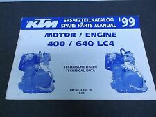 1999 KTM 400 640 LC4 Engine Spare Parts Manual Book + Tech Data