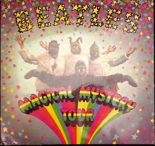 "The Beatles Magical Mystery Tour 2 X 7"" Vinyl  Complete Rare Blue Song Sheet VGC"