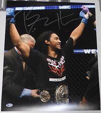 Benson Henderson Signed UFC 16x20 Photo BAS Beckett COA w/ WEC Belt Autograph 46