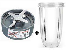 Remplacement cross extracteur lame + 32 oz tasse pour mixeur nutribullet 900w/600w