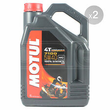 Motul 7100 4T 5W-40 Motorcycle Engine Oil Fully Synth 5W40 2 x 4 Litres 8L