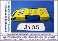 EE 3105 NEW Blue Brawa 33 ft (10m) 25.5 AWG Stranded Wire Single Conductor