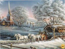 Morning Frost Horses Bridge Terry Redlin 300 pc Bagged Boxless Jigsaw Puzzle