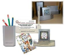 """Call Waiting"" Table Clock, Pencil & Business Card Holder - Desk Top Gift Set"