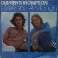 "7"" 1980 IN MINT- ! PHIL CARMEN & MIKE THOMPSON : I Meet You At Midnight"
