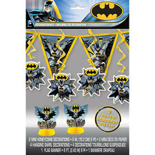 BATMAN Gotham Hero DECORATION KIT (7pc) ~ BIrthday Party Supplies Centerpiece DC