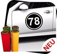 2x L Startnummer Auto Autoaufkleber Mottorad Sport