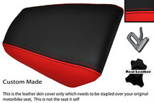 RED & BLACK CUSTOM FITS HONDA CBR 125 04-10 REAR PASSENGER LEATHER SEAT COVER