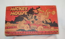 Rare Original 1930s Mickey Mouse Pencil Box Great Color Walt Disney Enterprises