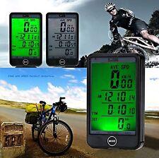 LCD impermeabile senza fili Ciclo Bicicletta Computer Tachimetro speedotouch NUOVO