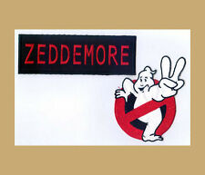Ghostbusters 2 Arm Patch & Zeddemore Name tag set