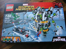 Brand New Lego MARVEL Super Heroes Spider-Man: Doc Ock's Tentacle Trap 76059