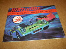MATCHBOX TOY CATALOGUE 1971 USA EDITION EXCELLENT  CONDITION