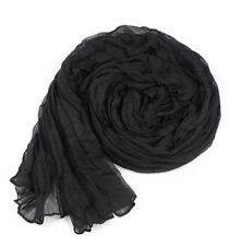 hot women's girls solid color cotton blend long scarf shawls 85x150cm C04