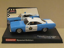 25781 Carrera 70 Plymouth Road Runner idee + speil Chicago Police 1:32 Slot Car